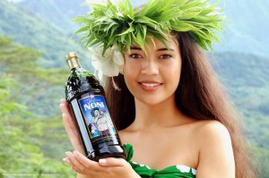 Tahitian Noni Promotional Image. Giving island women that wonderful sheen is just one among the many benefits of Tahitian Noni.