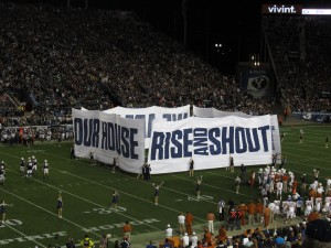 The message is the same, whether in Lavell Edwards Stadium or IKEA.