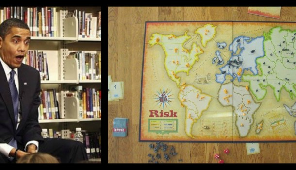 Obama Cites High Emotions During Game of Risk; Scales Back Syria Missile Strike Threats