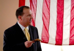 Sen. Mike Lee waves around the Constitution like it's going out of style, which is totally isn't, being an 18th century document and everything. Picture by jeremy.nicoll