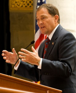 """Same-sex marriage is just really gay,,"" Governor Herbert said."
