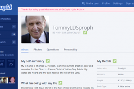 Thomas S. Monson Hopes to Find New Helpmeet, Joins OKCupid