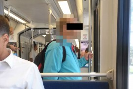 Guy Sticks it to UTA, Stands in Trax Well