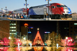 FrontRunner Commuters View Temple-Square-Christmas-Lights-Bound Hordes