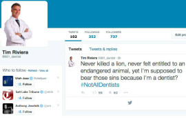 #NotAllDentists Hashtag Floods Social Media In Aftermath of Cecil the Lion's Death