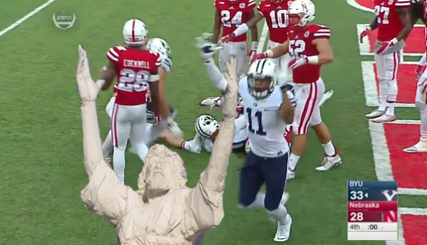 Nice Try, Atheists, BYU Won With A Hail Mary! Good Job, Jesus!