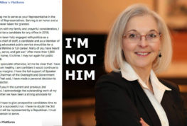 Dr. Kathie Allen's Platform Announces He Won't Run For Reelection in 2018